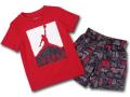 BP981 キッズ 子供用 ジョーダン Tシャツ&ショーツ セットアップ Jordan Toddler Set 赤黒白 【メール便対応】