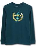 NK414 ジュニア ナイキ レブロン・ジェームズ ロングスリーブ Tシャツ Nike Lebron James Long Sleeve T-Shirt キッズ 長袖 モスグリーンメタリックゴールド 【ドライフィット】 【メール便対応】
