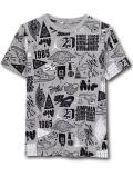 LL501 ジュニア ジョーダン Tシャツ Jordan Youth Graphic T-Shirt キッズ ユース トップス 灰黒白 【メール便対応】