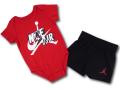 BT044 べビー ジョーダン ロンパース&パンツ セットアップ Jordan Jumpman Classics Romper Set ベビー服 赤ちゃん 赤黒白 【メール便対応】