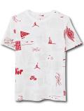LL504 ジュニア ジョーダン Tシャツ Jordan Youth Graphic T-Shirt キッズ ユース トップス 白赤 【メール便対応】