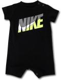 BY165 ベビー ナイキ ロンパース Nike Infant Romper ベビー服 赤ちゃん 黒灰ネオングリーン 【メール便対応】