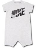 BY166 ベビー ナイキ ロンパース Nike Infant Romper ベビー服 赤ちゃん ライトグレー黒 【メール便対応】
