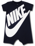 BY174 ベビー ナイキ ロンパース Nike Futura Rompers ベビー服 赤ちゃん 紺白 【メール便対応】