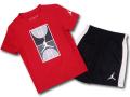 BP986 キッズ 子供用 ジョーダン Tシャツ&ショーツ セットアップ Jordan Toddler Set 赤黒白 【メール便対応】