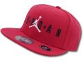 KC611 キッズ Jordan Snapback Cap ジョーダン キャップ 赤黒白【サイズ調節ベルト付き】