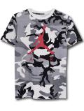 LL512 ジュニア ジョーダン Tシャツ Jordan Youth Camo T-Shirt キッズ トップス カモフラージュ灰赤 【メール便対応】