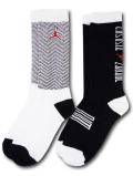 BK190 【メール便対応】 キッズ Air Jordan XI 11 ジョーダン クルーソックス 2足セット 白黒赤【22-25cm】
