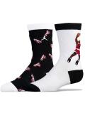 BK197 【メール便対応】 キッズ Jordan AJ1 Crew Socks ジョーダン クルーソックス 2足セット 黒白赤【22-25cm】