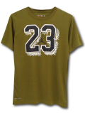 LL514 ジュニア ジョーダン トレーニングTシャツ Jordan Youth Basketball T-Shirt キッズ ユース トップス オリーブグリーン黒白【ドライフィット】 【メール便対応】