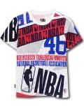 NK423 ジュニア NBA ロゴマン Tシャツ Logo Basketball Youth キッズ ユース トップス  白赤紺 【メール便対応】
