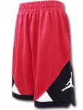 SK418 ジュニア ジョーダン バスケットボールショーツ Jordan Shorts キッズ バスパン 赤黒白【ドライフィット】 【メール便対応】