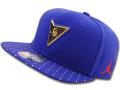 JC031 ジョーダン スナップバックキャップ Jordan 7 Retro Snapback Cap 帽子 青メタリックゴールド