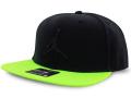 JC014 ジョーダン スナップバックキャップ Jordan Pro Jumpman Snapback Cap 帽子 黒ネオングリーン