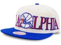CN200 ミッチェル&ネス NBA フィラデルフィア・セブンティシクサーズ スナップバックキャップ Mitchell & Ness Philadelphia 76ers Snapback Cap 帽子 アイボリー青