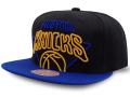 CN199 ミッチェル&ネス NBA ニューヨーク・ニックス スナップバックキャップ Mitchell & Ness New York Knicks Snapback Cap 帽子 黒青黄色