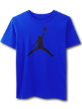 LL516 ジュニア ジョーダン Tシャツ Jordan Youth T-Shirt キッズ ユース トップス 青黒 【メール便対応】