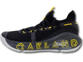 """KS601 キッズ/ジュニア Under Armour Curry 6 """"Thank You"""" Oakland アンダーアーマー """"ステフィン・カリー"""" バスケットシューズ 黒【箱なし】"""