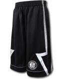 SK423 ジュニア NBA ブルックリン・ネッツ ショーツ Zipway Brooklyn Nets Shorts ジップウェイ キッズ バスパン 黒リフレクター 【メール便対応】
