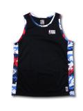 NB553 メンズ NBA ロゴマン トレーニングタンクトップ Logo Basketball Tank Camo ノースリーブ ジャージ 黒カモフラージュ 【メール便対応】