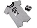 BY176 べビー ナイキ ロンパース&ソックス 2点セット Nike JDI  Romper ベビー服 赤ちゃん 靴下 灰黒白 【メール便対応】