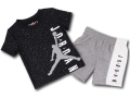 BP994 キッズ 子供用 ジョーダン Tシャツ&ハーフパンツ セットアップ Jordan Toddler Set 黒灰白 【メール便対応】