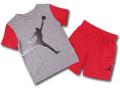 BP987 キッズ 子供用 ジョーダン Tシャツ&ハーフパンツ セットアップ Jordan Toddler Set ダークグレー赤黒 【メール便対応】
