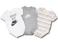 BY177 ベビー ナイキ ロンパース 3枚セット Nike JDI Romper Baby ベビー服 赤ちゃん 白灰アイボリー 【メール便対応】