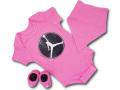 BH859 べビー ジョーダン ロンパース 3点セット Jordan Infant Set スタイ 靴下 ギフトセット ピンク白黒【箱付き】