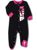 BY181 ベビー ナイキ カバーオール Nike Infant Coverall ベビー服 赤ちゃん 黒ホットピンク 【メール便対応】