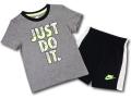 BP995 キッズ 子供用 ナイキ Tシャツ&ハーフパンツ セットアップ Nike JDI Toddler Set 灰黒ネオングリーン 【メール便対応】