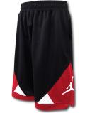 SK427 ジュニア ジョーダン バスケットボールショーツ Jordan Shorts キッズ バスパン 黒赤白【ドライフィット】 【メール便対応】