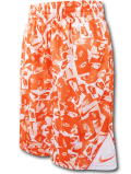 SK429 ジュニア ナイキ バスケットボール ショーツ Nike Youth Shorts キッズ バスパン オレンジ白【ドライフィット】 【メール便対応】
