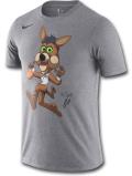 NB555 メンズ ナイキ NBA サンアントニオ・スパーズ Tシャツ Nike San Antonio Spurs Coyote T-Shirt 灰黒【ドライフィット】 【メール便対応】