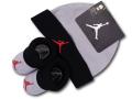 BA551 ベビー Jordan Infant Set ジョーダン 帽子&ソックスシューズ セット 赤ちゃん 靴下 ダークグレー黒赤