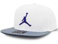 JC017 ジョーダン スナップバックキャップ Jordan Pro Jumpman Snapback Cap 帽子 白ダークグレー紫