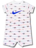 BY187 ベビー ナイキ ロンパース Nike Infant Romper ベビー服 赤ちゃん 白青赤 【メール便対応】