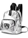 NP822 NBA ブルックリン・ネッツ ミニリュックサック Brooklyn Nets Mini Backpack バックパック メタリックシルバー黒