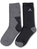 BK378 ジュニア ジョーダン クルーソックス 2足セット Jordan Youth Crew Socks キッズ ユース 靴下 22-25cm 灰アントラシート 【メール便対応】