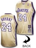 """NB556 メンズ ミッチェル&ネス NBA コービー・ブライアント レイカーズ オーセンティックジャージ """"Hall of Fame"""" Mitchell & Ness Kobe Los Angeles Lakers Jersey Mamba ゴールド紫"""