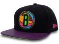 CN205 ニューエラ NBA ブルックリン・ネッツ スナップバックキャップ New Era Brooklyn Nets Snapback Cap 帽子 黒ボルドー