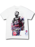 NB557 メンズ ミッチェル&ネス NBA ピストンズ デニス・ロッドマン Tシャツ Mitchell & Ness Detroit Pistons Dennis Rodman  白黒赤 【メール便対応】
