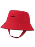 BA617 ベビー ナイキ UVカット バケットハット Nike Bucket Hat Infant UPF40+ 赤ちゃん 帽子 赤黒 【メール便対応】