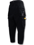 PJ884 メンズ ジョーダン コットン カーゴパンツ Air Jordan Legacy AJ12 XII Cargo Pants 黒黄色