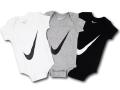 BH868 べビー ナイキ ロンパース3点セット Nike Infant Set 赤ちゃん ベビー服 ギフトセット 白灰黒【箱付き】