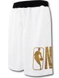 SK438 ジュニア NBA ロゴマン バスケットボールショーツ Logo Basketball Shorts キッズ ユース バスパン 白黒メタリックゴールド 【メール便対応】