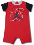 BT070 ベビー ジョーダン ロンパース Jordan Rompers ベビー服 赤ちゃん 赤黒灰 【メール便対応】