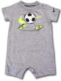 BY192 ベビー ナイキ ロンパース Nike Infant Rompers ベビー服 赤ちゃん サッカー 灰黒ネオングリーン 【メール便対応】