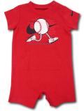 BY193 ベビー ナイキ ロンパース Nike Infant Rompers ベビー服 赤ちゃん 野球 赤黒白 【メール便対応】