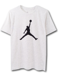 LL520 ジュニア ジョーダン Tシャツ Jordan Youth T-Shirt キッズ ユース トップス ライトグレー黒 【メール便対応】